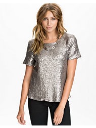 Jeane Blush Sequin T-shirt