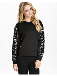 Jeane Blush Sequin Sleeve Sweater