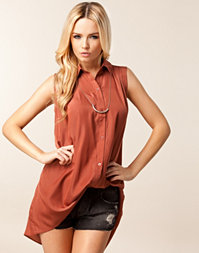 Jeane Blush - Chloe Pleat Top