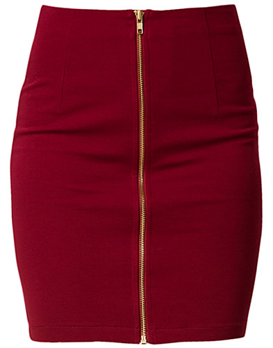 NEDERDELE - JEANE BLUSH / PERNILLA ZIP SKIRT - NELLY.COM