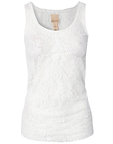 TOPPAR - JEANE BLUSH / LACE TOP - NELLY.COM