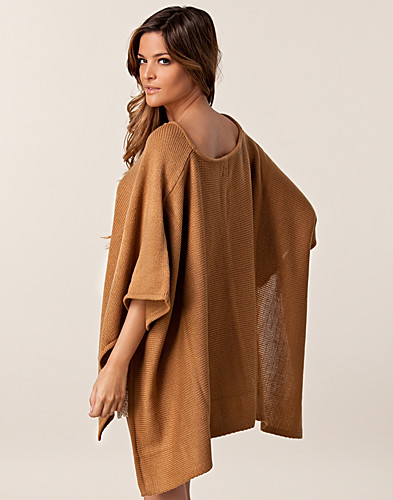 JUMPERS & CARDIGANS - JEANE BLUSH / STINA PONCHO SWEATER - NELLY.COM