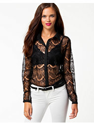 Jeane Blush Lace Shirt