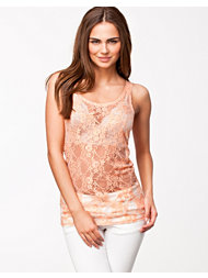 Jeane Blush Lace Tank Top