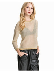 Jeane Blush Metallic thread sweater