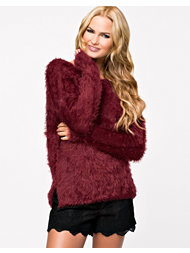 Jeane Blush Deep Back Fluffy Sweater