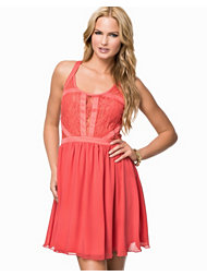 Jeane Blush Lace Chiffon Dress