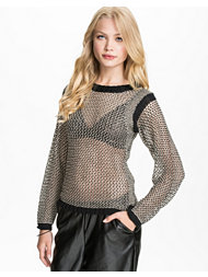 Jeane Blush Metallic Rib sweater