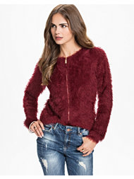 Jeane Blush The Zip Fluffly Sweater