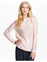 Jeane Blush The Detail Sleeve Sweater