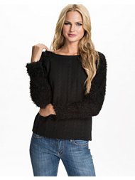 Jeane Blush Fluffy Sleeved Sweater