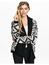 Jeane Blush Zigzag Knit Cardigan