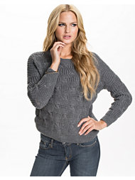 Jeane Blush Circular Ribb Sweater