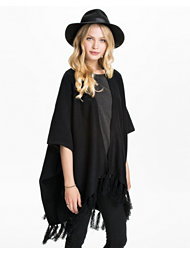 Jeane Blush Fringed Poncho
