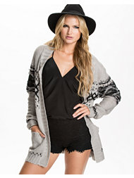 Jeane Blush Oversized knit Cardigan
