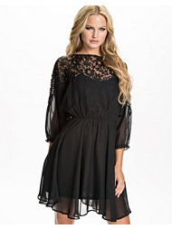 Jeane Blush Lace shoulder dress