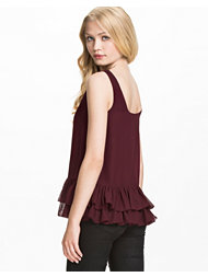 Jeane Blush Ruffle Hem Top