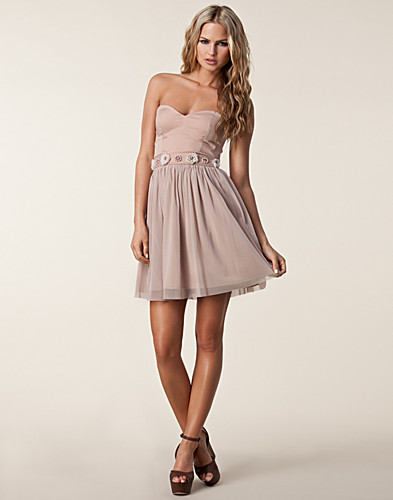 FEESTJURKEN - ELISE RYAN / BANDEAU WAIST TRIM DRESS - NELLY.COM
