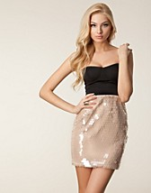 SEQUIN SKIRT BANDEAU DRESS