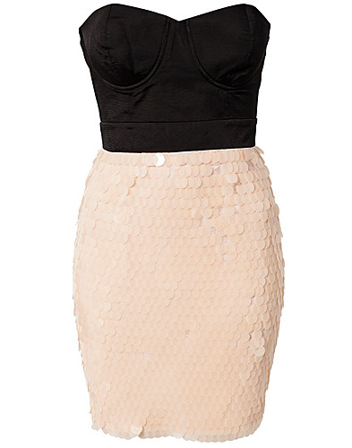 PARTY DRESSES - LIPSY / SEQUIN SKIRT BANDEAU DRESS - NELLY.COM