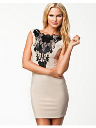 Lipsy Lace Insert Bodycon Dress