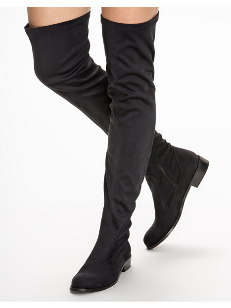 Thigh High Flat Boots - Cr Boot