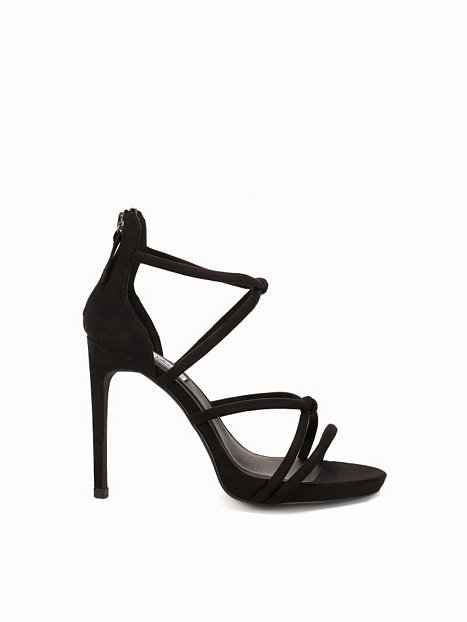 high heel knot sandal nly shoes schwarz partyschuhe. Black Bedroom Furniture Sets. Home Design Ideas