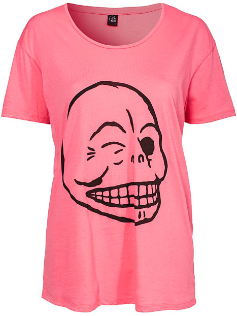 cheap monday flirt skull shirt decals