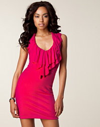 Hedonia - Lila Ruffle Bodycon Dress