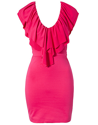 FEESTJURKEN - HEDONIA / LILA RUFFLE BODYCON DRESS - NELLY.COM