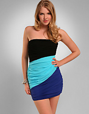 Rare Fashion - Slim Colour Dress