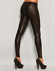 Rare Fashion - Zip Leather Look Leggings