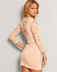 Rare Fashion - LS Lace Back Dress