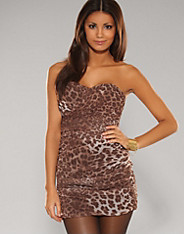 Rare Fashion - Leopard Bandeau Dress