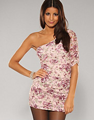 Rare Fashion - Floral One Shoulder Dress