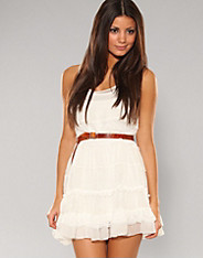 Rare Fashion - White lace chiffon dress