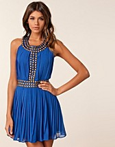 GOLD STUD PLEATED DRESS