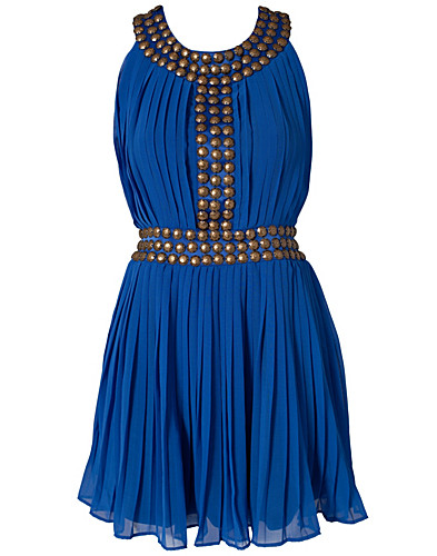 FESTKLÄNNINGAR - RARE LONDON / GOLD STUD PLEATED DRESS - NELLY.COM