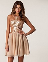 SEQUIN CUT OUT BODICE DRESS