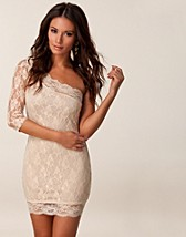 LACE ONE SLEEVE DRESS
