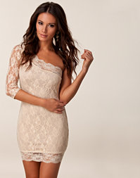 Rare London - Lace One Sleeve Dress