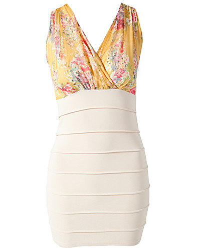 PARTY DRESSES - RARE LONDON / FLORAL CONTRAST BODYCON - NELLY.COM