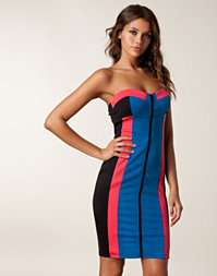 Rare London - Block Colour Zip Dress