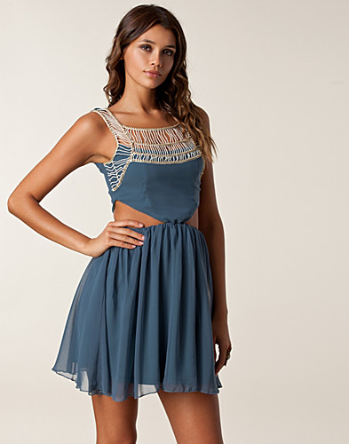PARTY DRESSES - RARE LONDON / EMBELLISHED TWIST DRESS - NELLY.COM