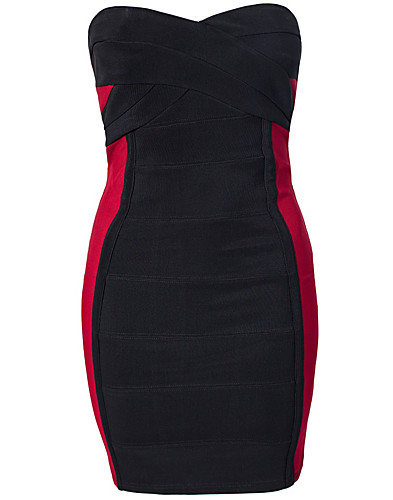 FESTKLÄNNINGAR - RARE LONDON / CONTRAST BANDAGE DRESS - NELLY.COM