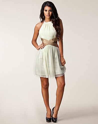 PARTY DRESSES - RARE LONDON / HALTER NECK CUT OUT DRESS - NELLY.COM