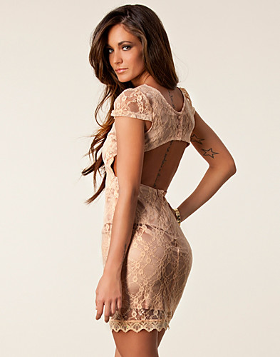 PARTY DRESSES - RARE LONDON / OPEN BACK LACE DRESS - NELLY.COM