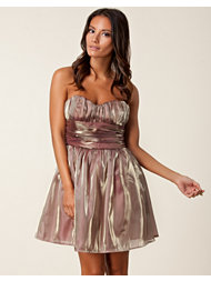 Rare London Metallic Bandeau Dress