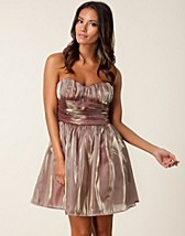 METALLIC BANDEAU DRESS