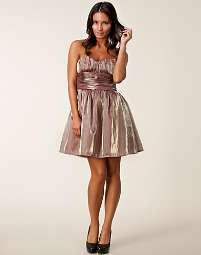 PARTY DRESSES - RARE LONDON / METALLIC BANDEAU DRESS - NELLY.COM
